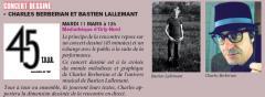 Concert dessiné avec Bastien Lallemant et Charles Berbérian à Orly