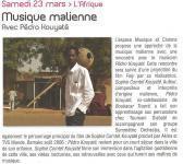 Pédro et Sophie Comtet Kouyaté - Renaud Ollivier à Sorgues