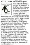 Article paru dans le magazine Francofans