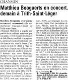 Mathieu Boogaerts à Trith Saint Léger